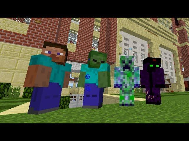 Minecraft Monster School Mod (HOW TO BE A CREEPER)