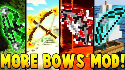 MORE GOD BOWS MOD CHALLENGE | Minecraft - Mod Battle