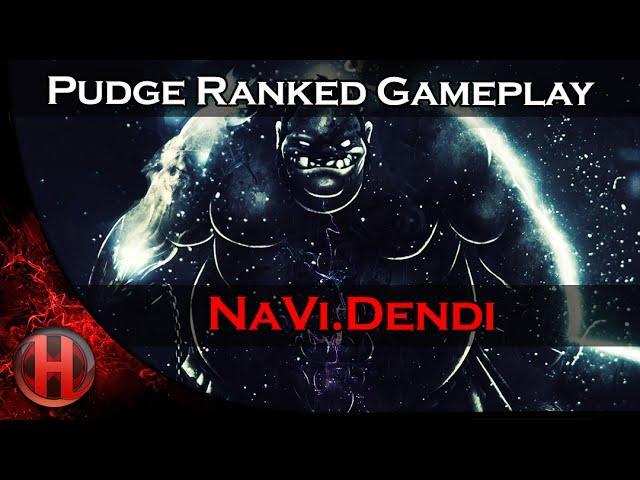 Na'Vi.Dendi Pudge Ranked Gameplay Dota 2