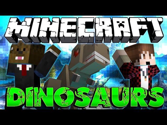 "Minecraft: Modded Dinosaur Survival Let's Play #19 ""DINOSAURS VS ENDER DRAGON"" (Season 3)"