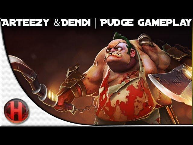 Arteezy & Dendi | Dota 2 Pudge Gameplay