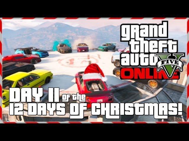 GTA 5 Online - Santa's Demolition Derby! (Day 11 of 12) (GTA V)