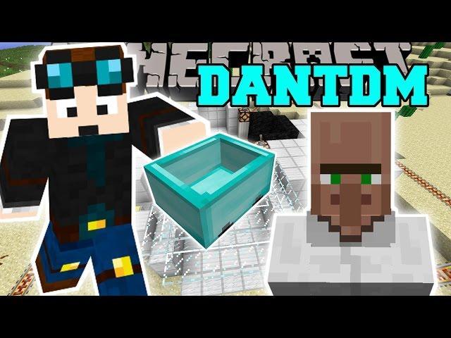 Minecraft: THEDIAMONDMINECART MOD (TRAYAURUS, THE LAB, & DANTDM!) Mod Showcase