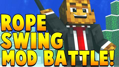 ROPE SWING MOD CHALLENGE | Minecraft - Mod Battle