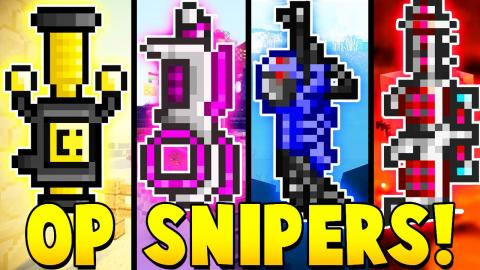 OP SNIPERS MOD CHALLENGE | Minecraft - Mod Battle