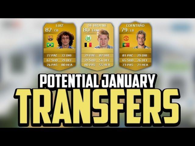 FIFA 14 | Potential January Transfers! - David Luiz, Coentrão & De Bruyne