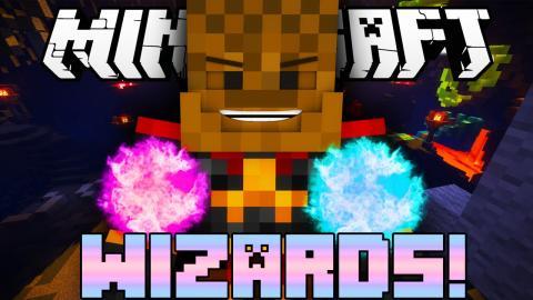 Minecraft WIZARD SPELLS BATTLE