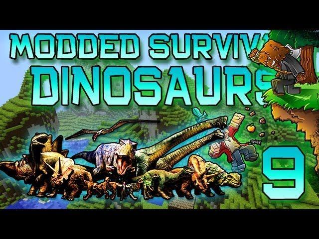 Minecraft: Modded Dinosaur Survival Let's Play w/Mitch! Ep. 9 - FEEDING THE DINOS!