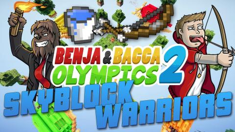 Minecraft Benja & Bacca Olympics S2 - SKYBLOCK WARRIORS - EGGED BY FANS (Challenge #1)
