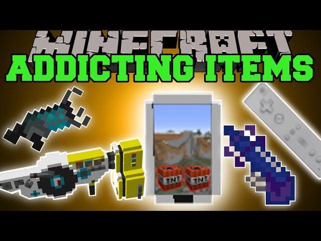 Minecraft: FUN ITEMS (MOST ADDICTING ITEMS EVER!) Mod Showcase