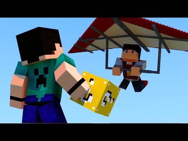 Minecraft - SKY WARS ASA DELTA COM LUCKY BLOCK #2 O PVP COMEÇA!