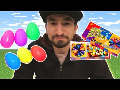 SURPRISE EGG BEAN BOOZLED CHALLENGE GAME! (Minecraft Sky Wars Penalty Game!)