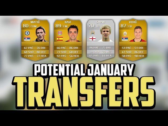 FIFA 14 | Potential January Transfers! - Matić, Xavi, Vidić & Shaw