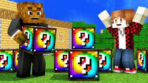 SPIRAL RAINBOW LUCKY BLOCK MOD Tiny House Challenge | Minecraft - Lucky Block Mod