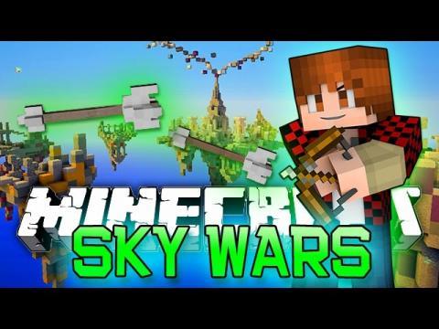 Minecraft: Sky Wars - MEGA 100 PLAYER SKY ISLAND Mini-Game BATTLES!