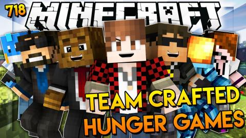 "Minecraft: ""TEAM CRAFTED Cops N' Robbers?!"" Hunger Games 718"