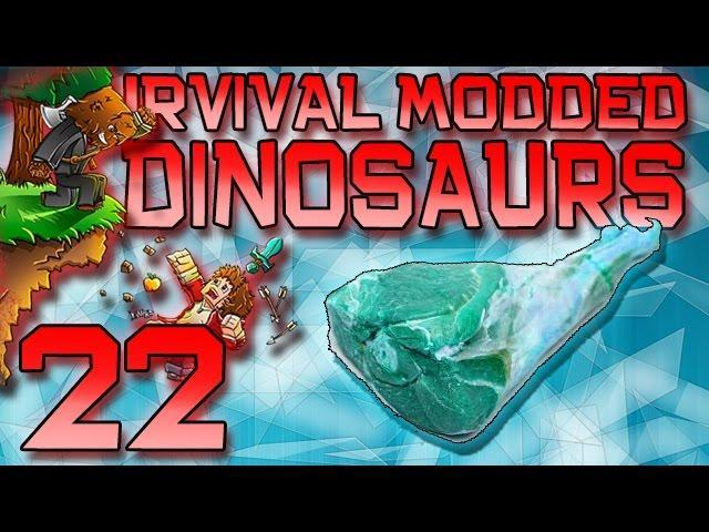 Minecraft: Modded Dinosaur Survival Let's Play w/Mitch! Ep. 22 - Frozen Meat DNA!