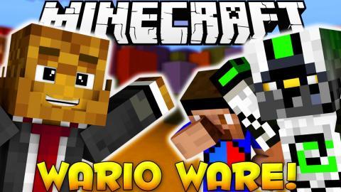 Minecraft WARIOWARE Rapid Fire Minigames w/ Vikkstar & Nade