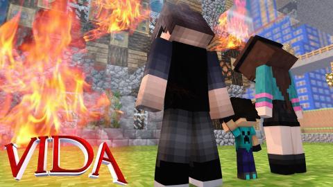Minecraf VIDA : INCÊNDIO NA CASA !! #06