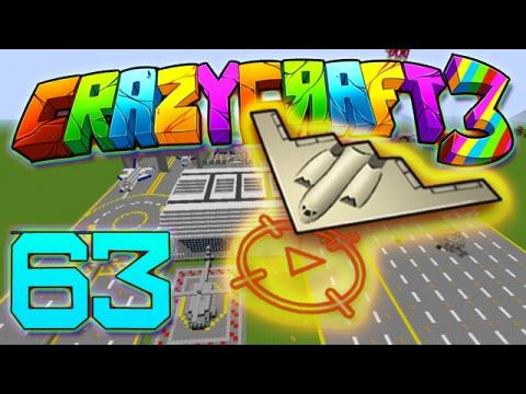 Minecraft Crazy Craft 3.0: EPIC HELICOPTER AND JET DOGFIGHTS #63 (Modded Roleplay)