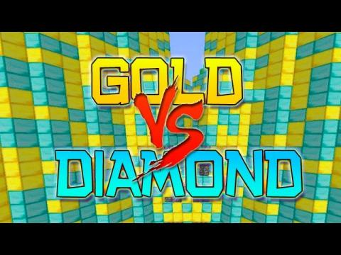 FREEZING COLD POOL! Minecraft: Gold vs Diamond ULTIMATE Parkour Challenge!