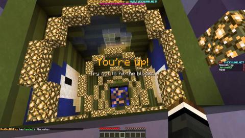 Minecraft DEATH DROP REVOLVER (SkyDiving Minigame) w/ NadeShot & AcidicBlitzz