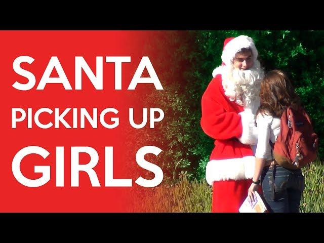 Santa Claus Picking Up Girls