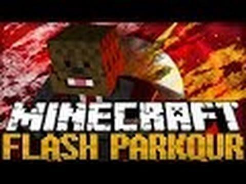 Minecraft FLASH Parkour RUN AS FAST AS A CAR