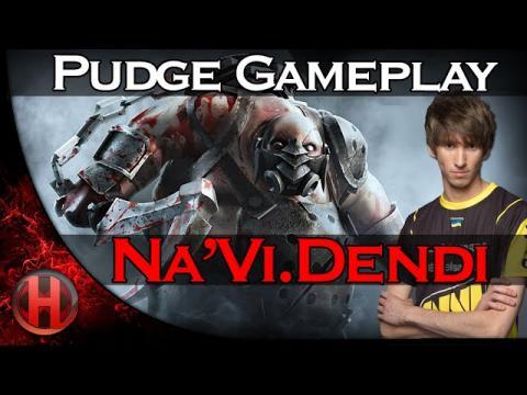 Na'Vi.Dendi Pudge Gameplay Dota 2