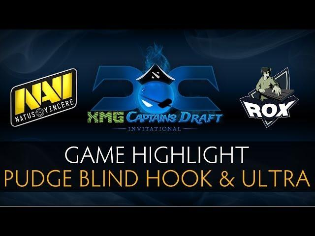 Dota 2 Pudge Blind Hook and Ultra Kill by Dendi - The XMG Captains Draft Invitational