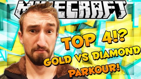 FREEZING POOL CHALLENGE - Minecraft TOP 4 GOLD VS DIAMOND PARKOUR