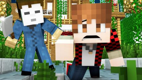 MICHAEL MYERS AT TERMINAL AIRPORT HORROR MINI-GAME! Minecraft Funny Killing Game!