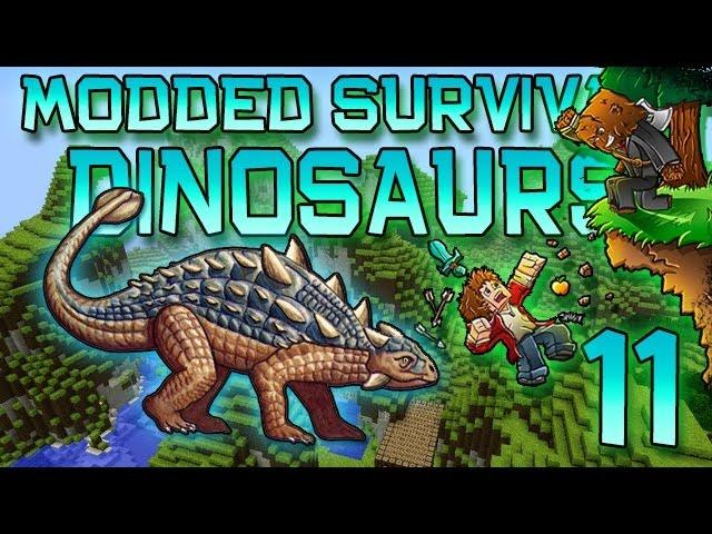 Minecraft: Modded Dinosaur Survival Let's Play w/Mitch! Ep. 11 - HOW ARE THEY ESCAPING!