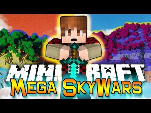 Minecraft: Sky Wars MOST KILLS? - MEGA 100 PLAYER SKY ISLAND Mini-Game BATTLES!