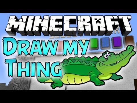 Minecraft: DRAW MY THING - ALLIGATOR HYPE!