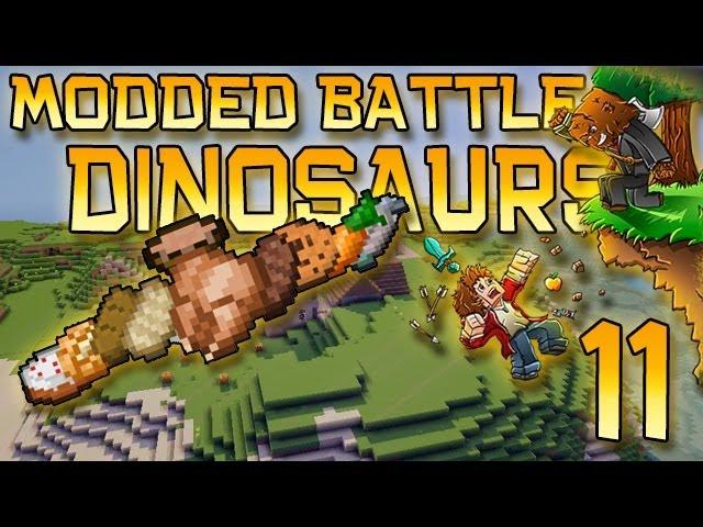 Minecraft: Modded Dinosaur Survival Let's Play w/Mitch! Ep. 11 - How To Feed Your Dinosaurs!