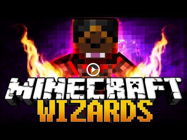 Minecraft WIZARDS MAGIC MOD PVP Minigame w/ Antvenom and BillWarlow