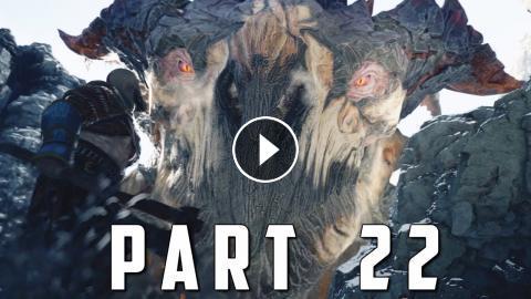 GOD OF WAR Walkthrough Gameplay Part 22 - HRAEZLYR DRAGON