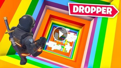 IMPOSSIBLE* RAINBOW DROPPER CHALLENGE in Fortnite