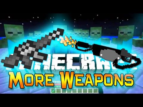 Minecraft : Ultimate More Weapons & Guns in Minecraft! (No Mods Flamethrower, Grenade, Machine Gun)
