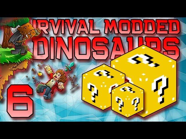 Minecraft: Modded Dinosaur Survival Let's Play w/Mitch! Ep. 6 - LUCKY BLOCKS MOD!