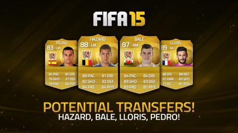 POTENTIAL TRANSFERS! - HAZARD, BALE, LLORIS, PEDRO! | FIFA 15 Ultimate Team