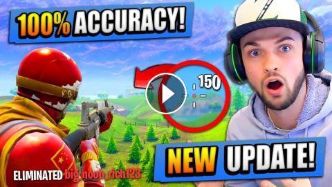 new 100 accuracy update in fortnite battle royale - fortnite accuracy test
