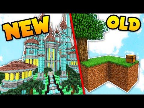 OLD vs NEW! Top Skyblock Skybounds Islands in Minecraft!
