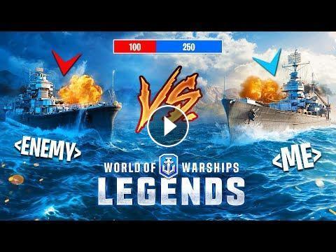 BATTLESHIP vs DESTROYER!! (World of Warships: Legends)
