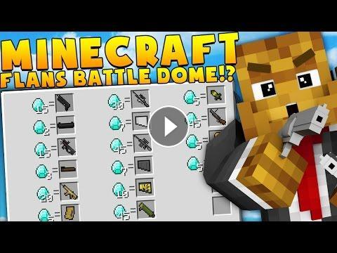 Minecraft MEGA WEAPONS MODDED BATTLEDOME CHALLENGE - Minecraft Mod