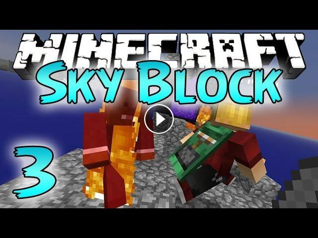 Minecraft: SkyBlock Survival Episode 3 - Funny Nether Portal!