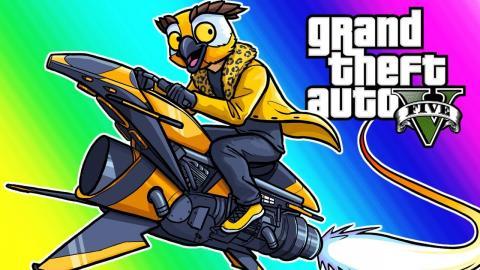GTA5 Funny Moments - Basically's Intervention and Noisy Cricket Car