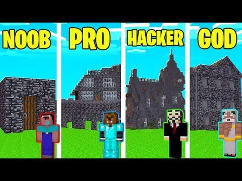 Minecraft Noob Vs Pro Vs Hacker Vs God Modern Bedrock House In Minecraft