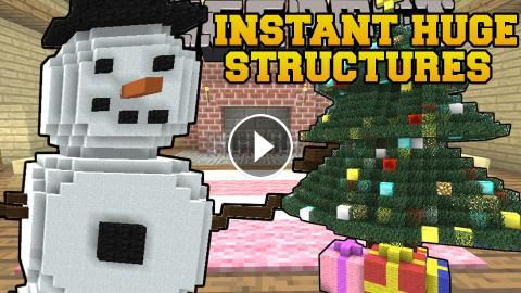Minecraft Christmas Houses.Minecraft Instant Christmas Structures Houses Snowman